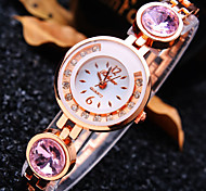 Women's New Luxury Trend Round Diamond Dial Diamond Strap Fashion Quartz Bracelet Watch (Assorted Colors)