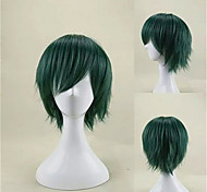 Capless Fashion  Green Short Straight Cosplay and Party Wig Top Quality Synthetic Hair Wigs Man's Cosplay Wig