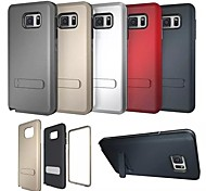 High Quality 3 in 1 Hybrid TPU+PC with Stand Back Cover for Samsung Galaxy S6 (Assorted Colors)
