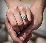 Women's CZ Diamond Engagement Wedding Rings