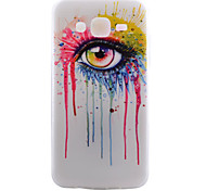 Glasses Pattern TPU Material Transparent Soft Cell Phone Case for Samsung Galaxy J1/J5