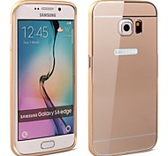 High Quality Protective Metal Bumper Frame with PC Back Cover for Samsung S6 edge (Assorted Colors)