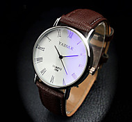 Fashion Luxury Blue Ray Glass Roman Number Quartz Analog Mens Watch Relojes Men Sport Wrist Watch Leather Cool Watch Unique Watch