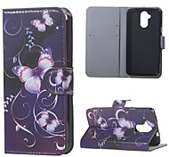 Fashion Purple Butterfly Pattern Leather Wallet Flip With Stand Case For Acer Liquid Z410 mobile Phone  Cases