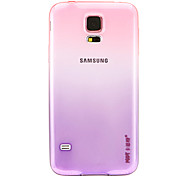 KST Crystal Love Pink Gradient to Purple TPU Back Cover Case for Samsung Galaxy S5/9600