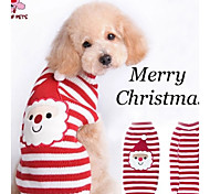 Abrigos / Suéteres para Perros / Gatos Rojo Invierno Navidad XXS / XS / S / M / L / XL / XXL Material Mixto