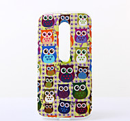 Yellow Background Owls Pattern TPU Soft Case for Motorola Moto G3