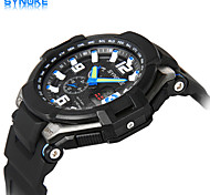 SYNOKE Men's Round Dial Casual Watch 50 Meter Swimming Waterproof Electronic Watch Fashion Wrist Watch (Assorted Colors)