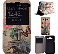 Painted PU Phone Case for Galaxy J5