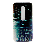 Raindrop Pattern TPU Soft Cover Case for Motorola MOTO G3 3rd Gen