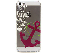 Pink Anchors  Pattern TPU Cell Phone Soft Shell For iPhone 5/5S