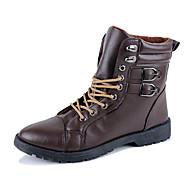 Sapatos Masculinos Botas Preto / Marrom Courino Escritório & Trabalho / Casual