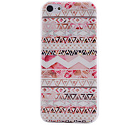 Pink Wave Pattern Transparent TPU Material Soft Thin Cell Phone Case for iPhone 5C