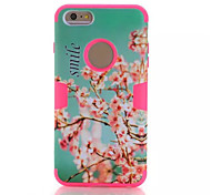 Cherry blossoms mixed mode  Silicone Case Cover For iPhone 6 Plus/6S Plus