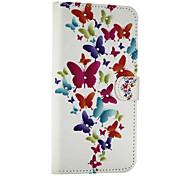 Schmetterling Muster mit Diamant-PU-Leder-Tasche für Samsung Galaxy Note 5