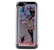 3D Stereoscopic Quicksand Butterfly Girl Pattern PC Material Phone Case for iPhone 5/5S