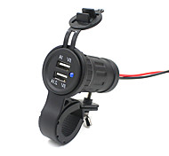 Dual USB Charger Adapter Socket Power Outlet 12V 24V LED Motorcycle Marine Car