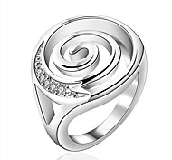 Women's Vintage Large 925 Silver Plated Ring