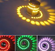 3W RGB LED lámpara de pared de luz artística moderna con la dispersión de la sombra de iluminación de diseño de hidromasaje estiramiento