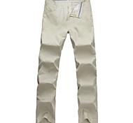 Lesmart Hommes Droite Pantalon Beige - MDMK1206