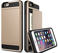 High Quality with Card Storage Back Cover for iPhone 6 (Assorted Colors)