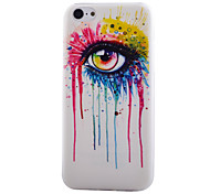Glasses Pattern Transparent TPU Material Soft Thin Cell Phone Case for iPhone 5C