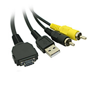 Replace VMC-MD1 USB Data with A/V Audio Video Cable for Sony Cybershot with Multi-Use Terminal