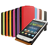 Multicolor Leather Upper and Lower Open Cell Phone Holster For Huawei P8 Lite  (Assorted Colors)