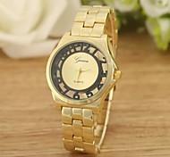 Luxury brand women concise style watch all gold hollow digital quartz watch  WANZHE0013