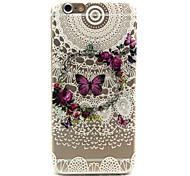 Butterfly Pattern TPU Cell Phone Soft Shell  For iPhone 6
