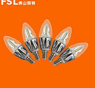 Lampandine a candela 20 SMD 3528 fsl C E14 5 W Decorativo 440 LM Bianco caldo 5 pezzi AC 220-240 V