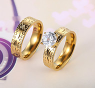 European and American fashion diamond couple rings Series 4 Couple Rings Wedding/Party/Daily/Casual 2pcs