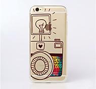 MAYCARI® Cute Cameras Transparent Soft TPU Back Case for iPhone 6 Plus