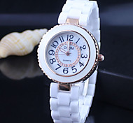 Womens' Fashion Ceramic luxury   quartz watch  Circular High quality Japanese watch movement Cool Watches Unique Watches