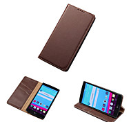 DE JI New Arrival Luxury 100% Genuine Top Cowhide Leather Case For LG G4 Wallet Stand Case With Card Holder