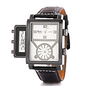 Fire Multi Time Zones Electronic Display Fashion Men'S Watch
