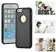 Myfon Lo  TPU+PC+Nano Suction Material  Anti-Gravity Case for iPhone 6(black with logo hole)