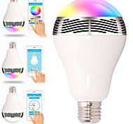 E27 6W Bluetooth Control Smart Music Audio Speaker LED RGB Color Bulb Light Lamps