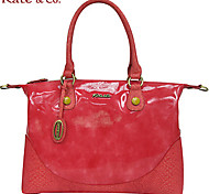 Kate & Co.® Women PVC Shoulder Bag Yellow / Red - TS-00145S