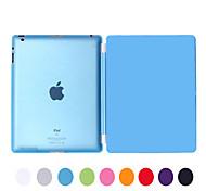 natusun ™ pu cuir multi-pli amovible Smart Cover mince coque en plastique dur translucide pour ipad2 / iPad3 / ipad4