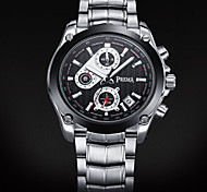 Diniho 8013G Men'S Fashionable Simple Style Analog Wrist Watch With Stainless Steel Band (Black/white)