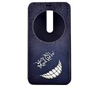 material dent package complet en cuir PU cas stand de téléphone pour asus zenfone 2 / asus zenfone 5
