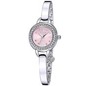 Yaqin® Women's Rhinestone Round Dial Silver Straps Quartz Watches