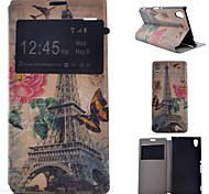 Painted PU Phone Case for Sony Xperia M4