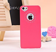 Carving and Heard-shape Pattern Solid Color Hard Case for iPhone 5/5S (Random Colors)
