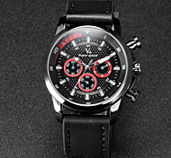 V6® Men's F1 Design Leather Strap Quartz Casual Watch Cool Watch Unique Watch
