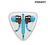 Pisen HiFi In-ear Earphones Flat Wire Tangle-free Headphones with Remote for Samsung