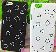 Fashion Black and White are Simple Pattern Matte PC Cases for iPhone6/iPhone 6s(Assorted Colors)