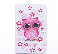 Owl Pattern PU Leather Full Body Case with Stand for Galaxy Tab E 9.6 T560