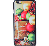 Christmas Style Gift and Bells Pattern PC Hard Back Cover for iPhone 6 Plus
